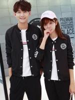 KW5911006 เสื้อกันหนาวเบสบอลชายหญิงเกาหลี (พรีออเดอร์) แฟชั่นเกาหลี รอ 3 อาทิตย์หลังชำระเงิน