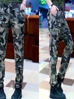 HW5906012 กางเกงทหารหญิงทรงหลวมสีเขียวกองทัพลายพราง (พรีออเดอร์) รอ 3 อาทิตย์หลังโอนเงิน