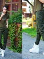 ้HW5906004 กางเกงขายาวทหารหญิงสีเขียวกองทัพทหาร แฟชั่นเกาหลี (พรีออเดอร์) รอ 3 อาทิตย์หลังโอนเงิน