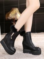 YW5912011 รองเท้าบูทฤดูหนาว มีส้นสูงแบนลาดบูทมาติน (พรีออเดอร์) รอ 3 อาทิตย์หลังโอนเงิน