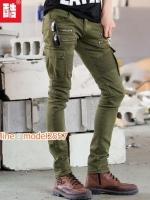 HW6107007 กางเกงขายาวทหารหญิงสีเขียวกองทัพทหาร แฟชั่นเกาหลี (พรีออเดอร์) รอ 3 อาทิตย์หลังโอนเงิน