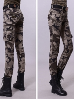 HW5906006 กางเกงขายาวทหารหญิงสีเขียวกองทัพทหาร แฟชั่นเกาหลี (พรีออเดอร์) รอ 3 อาทิตย์หลังโอนเงิน