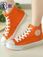TW5807006 รองเท้าผ้าใบผู้หญิงสีส้มสด แฟชั่นเกาหลี(พรีออเดอร์) รอ 3 อาทิตย์หลังโอนเงิน