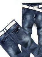 YM5807002 กางเกงยีนส์ชายขายาวเท่ห์สุดป๊อป ขากระบอกเล็ก 28-31 (พรีออเดอร์)
