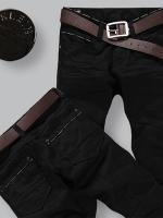 3022 กางเกงยีนส์ชาย ขากระบอกเล็ก สีดำ (พรีออเดอร์) รอ 3 อาทิตย์ หลังโอนเงิน