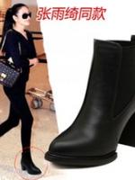 YW5711002 รองเท้าส้นสูงบูทมาร์ติน หนาในยุโรปและอเมริกา (พรีออเดอร์) รอ 3 อาทิตย์หลังโอนเงิน