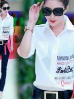 GW5712004 เสื้อเชิ้ตสาวเกาหลี พิมพ์ลายดีไซส์เก๋น่ารัก (พรีออเดอร์)รอสินค้า 3อาทิตย์หลังโอนเงิน