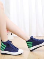 TW5807005 รองเท้าผ้าใบชายหญิง แฟชั่นเกาหลีสลับแถบสี (พรีออเดอร์) รอ 3 อาทิตย์หลังโอนเงิน