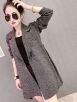 CW6003001 เสื้อคลุมฤดูหนาวผ้าวู ปกเชิ้ตตัวยาว (Preorder)