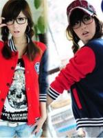 KW5911002 เสื้อกันหนาวเบสบอลสาวเกาหลี (พรีออเดอร์) แฟชั่นเกาหลี รอ 3 อาทิตย์หลังชำระเงิน