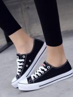 TW6002006 รองเท้าผ้าใบผู้หญิงสีขาวดำน้ำเงินเกาหลี (พรีออเดอร์) รอ 3 อาทิตย์หลังโอนเงิน