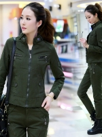 HW6010001 กางเกงทหารหญิงฤดูใบไม้ผลิและฤดูร้อนสีเขียวกองทัพ(พรีออเดอร์) รอ 3 อาทิตย์หลังโอนเงิน