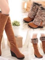 YW5912001 รองเท้าฤดูหนาวซับในขนสัตว์ ส้นสูงลาด (พรีออเดอร์) รอ 3 อาทิตย์หลังโอนเงิน
