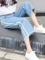 JW6009003 กางเกงยีนส์ขากว้างนักเรียนหญิงเกาหลีย้อนยุค (พรีออเดอร์) รอ 3 อาทิตย์หลังโอนเงิน