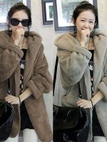 KW5709015 เสื้อคลุม กันหนาว ผ้าขนสัตว์ อบอุ่นมาก แฟชั่นเกาหลี (พรีออเดอร์) รอ 3 อาทิตย์หลังโอน