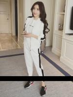 KW6006001 เสื้อแจ็กเก็ตเบสบอล+กางเกงแฟชั่นเกาหลี (พร้อมส่ง)