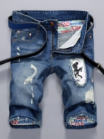 AM5909017 กางเกงยีนส์ชายขาสั้นแต่งขาดปะ แฟชั่นเกาหลี (พรีออเดอร์) รอ 3 อาทิตย์หลังชำระเงิน