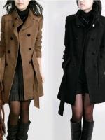 CW5709018 เสื้อโค้ท กันหนาว ผ้าขนสัตว์ คอปก อบอุ่นมาก แฟชั่นเกาหลี (พร้อมส่ง)ml