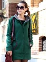 CW5705010 เสื้อกันหนาวเกาหลี มีฮูด ซิปหน้า อบอุ่นมาก (พร้อมส่ง)
