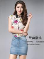 ฺBW6005009 กระโปรงยีนส์สั้นเข้าฟิตรูปสาวเกาหลี (พรีออเดอร์) รอ 3 อาทิตย์หลังโอนเงิน