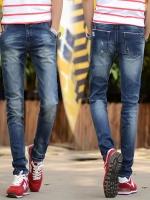 YM5907002 กางเกงยีนส์ชายขายาวเท่ห์สุดป๊อป ขากระบอกเล็ก 28-36 (พรีออเดอร์)