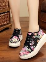 TW6101001 รองเท้าผ้าใบแฟชั่นเกาหลี ลายดอกไม้หวาน (พรีออเดอร์) รอ 3 อาทิตย์หลังโอนเงิน