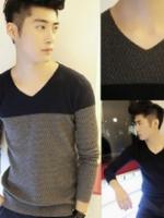 KM5710005 เสื้อกันหนาวเกาหลีผู้ชาย คอวี แขนยาว (พรีออเดอร์) รอสินค้า 3 อาทิตย์หลังชำระเงิน
