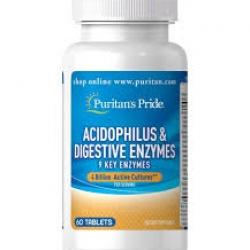 Puritan's Pride Acidophilus & Digestive Enzymes 2 billion / 60 Tablets