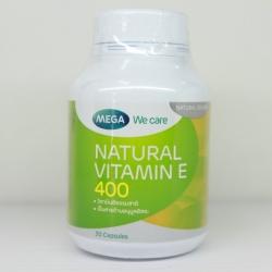 Mega We Care Natural Vitamin E 400 iu 30 แคปซูล Mega We Care Natural Vitamin E 400 iu 30 แคปซูล
