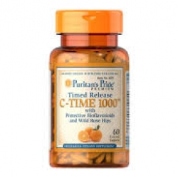Puritan's Pride Vitamin C-1000 mg with Rose Hips Timed Release / 60 Caplets