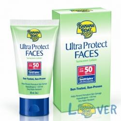 โลชั่นกันแดด Oil-free สำหรับผิวหน้า Banana Boat Ultra Protect Face Sunscreen Lotion SPF50 PA+++ 60 ml