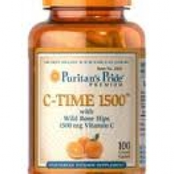 Puritan's Pride Vitamin C-1500 mg with Rose Hips Timed Release / 100 Caplets