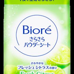 Biore Sara Sara Powder Sheet Fresh Citrus Fragrance บิโอเร ซารา ซารา พาวเดอร์ ชีท กลิ่นเฟรชซีทรัส