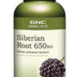 GNC Siberian Root จีเอ็นซี ไซบีเรียน รูท 650มก. (โสมไซบีเรี่ยน) 100 Capsules Code: 483712 เลขทะเบียน อย. 10-3-02940-1-0231