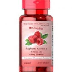 Puritan's Pride Raspberry Ketones & Green Tea Complex 600 mg / 60 Capsules