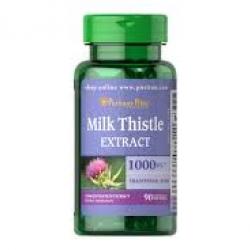 Puritan's Pride Milk Thistle 4:1 Extract 1000 mg (Silymarin)/ 90 Softgels
