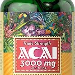Puritan's Pride Triple Strength Acai 3000 mg /120 Softgels