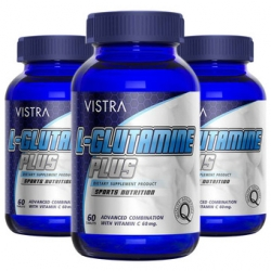 Vistra L-Glutamine Plus Sport Nutrition วิสทร้า แอล-กลูต้าไธโอน พลัส สปอร์ต นิวทริชั่น Vistra Sport Nutrition บรรจุ 60 แคปซูล