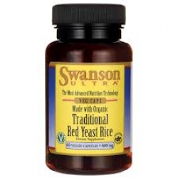 Swanson Ultra Made with Organic Traditional Red Yeast Rice 600 mg / 60 Veg Caps