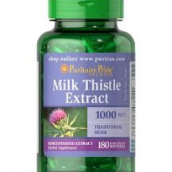Puritan's Pride Milk Thistle 4:1 Extract 1000 mg (Silymarin)/ 180 Softgels
