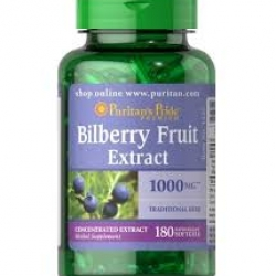 Puritan's Pride Bilberry 1000 mg / 180 Softgels