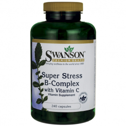 Swanson Premium Super Stress Vitamin B-Complex with Vitamin C / 240 Caps