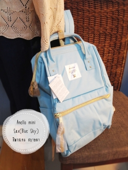 (Genuine) Anello backpack canvas mini sax(blue sky)