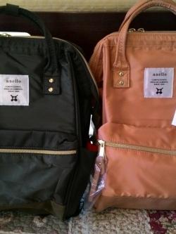 Anello Nylon Mini Size สีชมพูอ่อน และ สีเขียวเข้ม(กากี) พร้อมส่ง!!