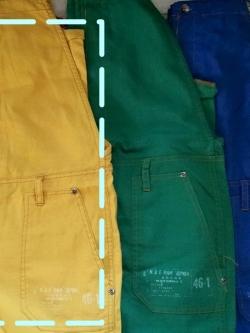 lime.inc เอี๊ยมกางเกงขายาวสไตล์ญี่ปุ่น สีเหลืองมัสตาร์ด
