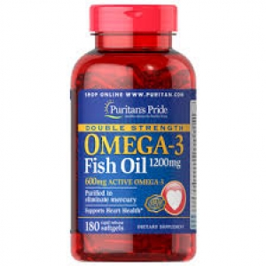 Puritan's Pride Double Strength Omega-3 Fish Oil 1200 mg / 180 Softgels