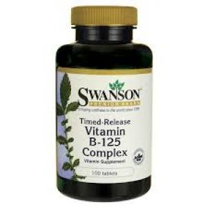 Swanson Premium Vitamin B-125 Complex / 100 Tabs