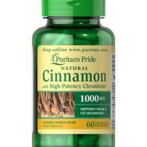 Puritan's Pride Cinnamon Complex with High Potency Chromium 1000 mg / 60 Capsules