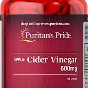 Puritan's Pride Apple Cider Vinegar 600 mg / 200 Tablets