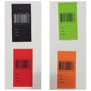 ป้ายกระดาษบาร์โค้ดแบบสี